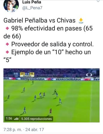 Tweet Luis Peña